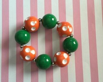 Orange Polka-dot Bracelet