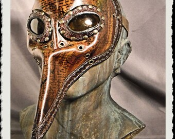 Steampunk leather mask - Plague Doctor - Tempus -