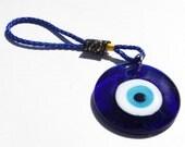 Evil Eye Glass Talisman - accessory, cell phone charm, gift idea, car charm