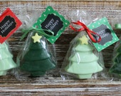 10 Christmas Tree Soap Party Favors
