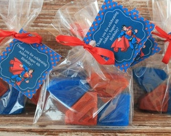 40 Superman Soap Party Favors:  10 Cello Bags