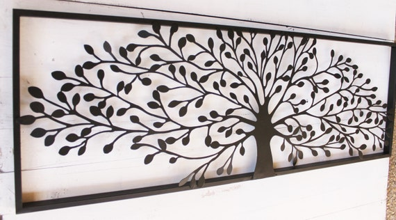 Metal wall art decor metal wall decor metal tree wall art - Decoration murale en metal design ...