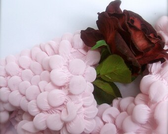 Shibori scarf - Bubbles Scarf  Light pink- Polyester - Boho style - Feminine Draped -Pink scarf