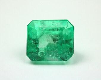 Enchanting! 2.89ct Loose Colombian Emerald-Emerald Cut