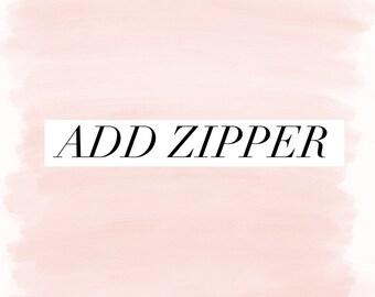 Add zipper to item