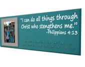 Running, Gifts for runners Running medal holder, race bib hanger, 5K, 10K, Half and full marathon, I can do all things… Philippians 4:13,