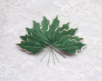 10 Mulberry Paper Leaves, Scrapbooking, Card Making, DIY, Crafts, Flowers