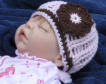 Crochet Cabled Hat Pattern Zoe Girl PDF 084
