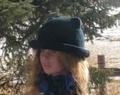Made to Order Knit Felt Brimmed Bowler Cat Hat