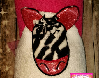 Zebra Hooded Towel
