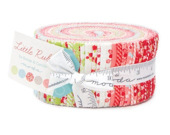 Moda Little Ruby Jelly Roll by Bonnie and Camille Fabric Strips- Quilt Fabric