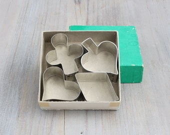 Vintage Box of Playing Card Cookie Cutters