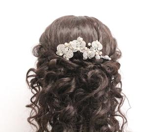 Wedding hair comb pearl bridal hair comb wedding hair jewelry bridal hair piece wedding decorative comb bridal headpiece wedding comb bridal