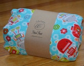 Flannel Fitted Crib Sheet - Robots - SALE