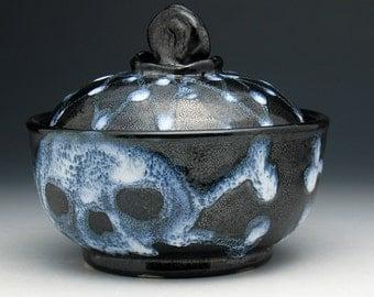 Ghost Skull Sugar Bowl, Skulls & Crossbones Sugar Bowl, Skull Jar