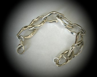 sterling 925 chain link bracelet with lobster claw clasp 54 grams hallmarked