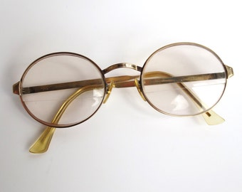 Vintage 60s Spectacles Gold Wire Frames 12K GF Eye Glasses Oval Eyewear LIBERTY USA Unisex Jackpot Jen 1960s glasses on Etsy