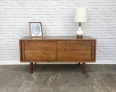 Whitewater Media Console - Solid Cherry - Teak Finish - 2 Sliding Doors - IN STOCK!!!