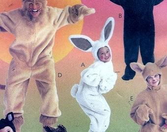 McCall's 8953 / 6106 CHILDS Cat Bunny Lion Kangaroo Costume Pattern UNCUT Size 3, 4, 5
