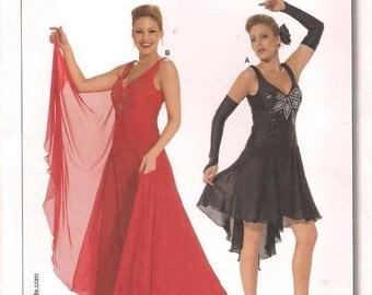Burda 7879 Ballroom Dance Salsa Latin Ballet Tango Costume Sewing Pattern Jazz Samba UNCUT