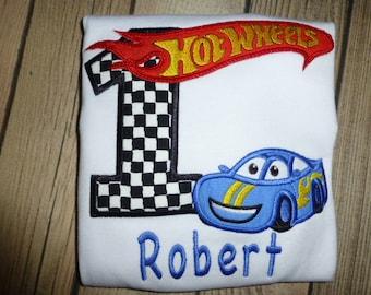 Race Car Birthday Shirt, Race Car Birthday T Shirt with Free Personalizaiton