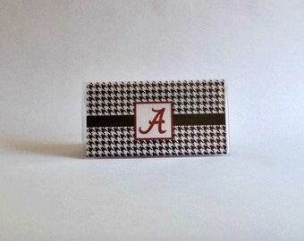 Checkbook Cover, Collegiate Checkbook Cover, Custom Checkbook Cover, Vinyl Checkbook Cover ALABAMA