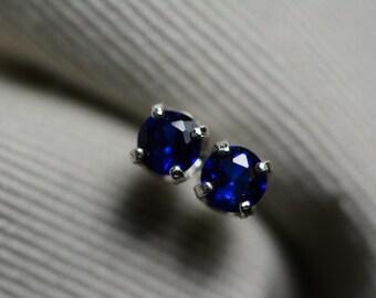Sapphire Earrings, Blue Sapphire Stud Earrings 0.53 Carat Appraised at 450.00, September Birthstone, Certified Sapphire Jewelry