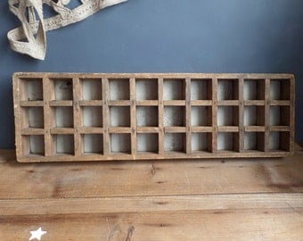 Vintage French wooden letter press box