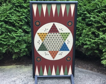 Chinese Checkers, Game Board, Wood, Primitive, Game Boards, Wooden, Board Game