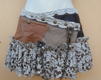 """20%OFF bohemian tribal gypsy bellydance fringed leather belt..38"""" to 46"""" waist or hips.."""