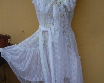 "20%OFF RESERVED wedding bohemian gypsy boudoir boho lagenlook lace vest.... medium to 46"" chest..."