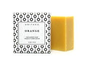 O R A N G E - Sweet Orange Oil Scented, for Face & Body, Cold Process Soap, 100% Natural