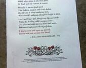 Letterpress Broadside - Shakespeare's Sonnet 116