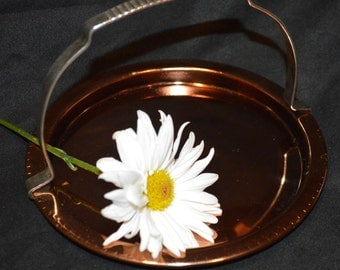 Kromex Copper and Brass Handled Dish-Candy Dish
