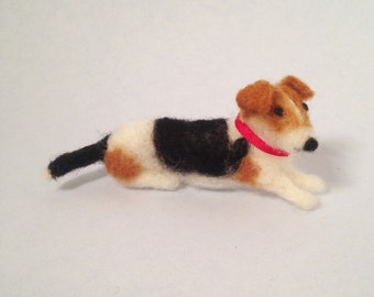 Jack Russell terrier figurine or ornament, ready to ship
