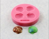 Seashell Silicone Mold Sea Shell resin, polymer clay, fondant, candy (366)