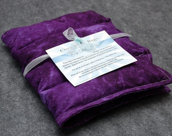 Microwavable Corn Bag Heating Pad / Ice Pack-- Pretty Plum, Back 10x16 - LAST ONE