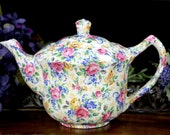 Chintz Tea Pot,  Antique Teapot, James Kent LTD Rosalynde, Made in England 12909