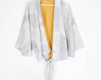 vintage 60s kimono tie waist top