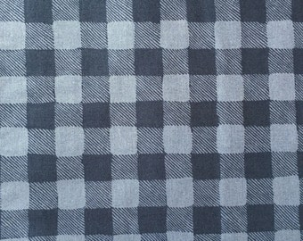 Gingham in Navy, Trail Mix Collection by Rae Ritchie for Dear Stella Fabrics, 1/2 yd