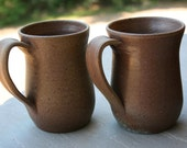 2 Pottery Mugs Salt Glazed NC Pottery