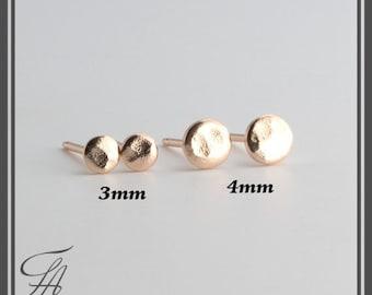 Hammered Studs,Minimalist Earrings,Flat Earrings,Disc Earrings,Dot Earrings,Post Earrings,Stud Earrings,Gold Earrings,Handmade Earrings