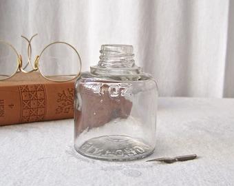 Vintage Ink Bottle Clear Glass Ink Bottle Sanford Collectible Bottles Fountain Pen Ink Bottle No Bulb Filler Top Vintage 1920s