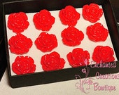 A Dozen Red Roses - Valentine's Day Special Thumbtacks Perfect For Gifts, Bridesmaids, Shower Favor, Teachers, Housewarming