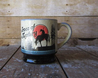 Retro Trees of Mystery  Mug - Redwood Forest