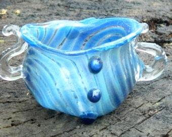 Ready To Ship Blue Multipurpose Glass Bowl
