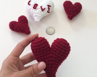 Crocheted Amigurumi Heart