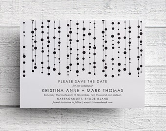 Black & White Modern Save the Date - Sample