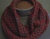 Ohio State Scarf Infinity Buckeyes Scarlet and Gray Handmade Crocheted