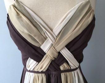 Vintage Bisou Bisou Dress 4, Chiffon Dress, Party Dress, Spaghetti Strap Dress